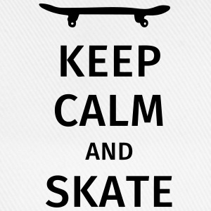 keep calm and skate Camisetas - Gorra béisbol