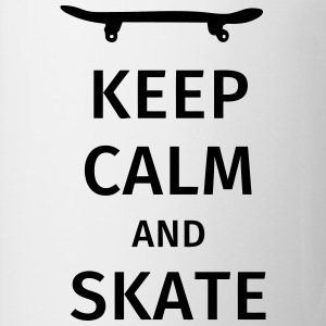 keep calm and skate Camisetas - Taza