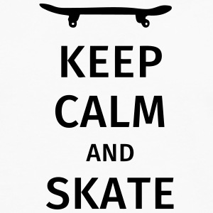 keep calm and skate Camisetas - Camiseta de manga larga premium hombre