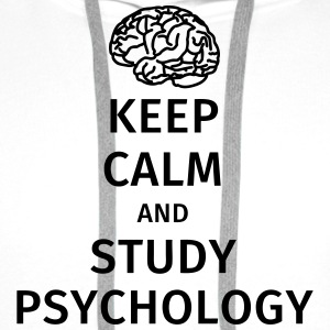 keep calm and study psychology T-Shirts - Men's Premium Hoodie