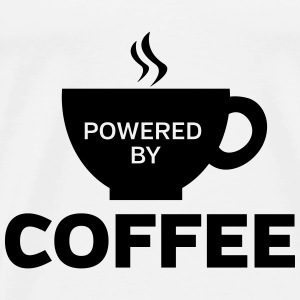 Powered By Coffee Topper - Premium T-skjorte for menn