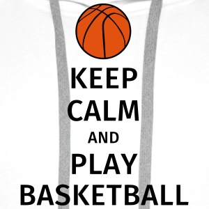 keep calm and play basketball Camisetas - Sudadera con capucha premium para hombre