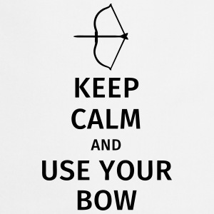 keep calm and use your bow Camisetas - Delantal de cocina