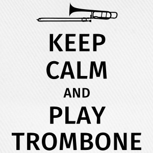 keep calm and play trombone Camisetas - Gorra béisbol