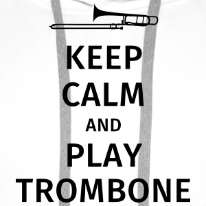 keep calm and play trombone T-Shirts - Men's Premium Hoodie