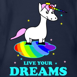 Live your Dreams Shirts - Baby bio-rompertje met korte mouwen