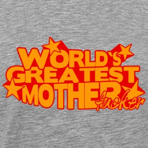 WORLD'S GREATEST MOTHER FUCKER Långärmade T-shirts - Premium-T-shirt herr