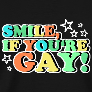 SMILE IF YOU'RE GAY Bags & Backpacks - Men's Premium T-Shirt