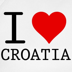 I LOVE CROATIA Tops - Baseballcap