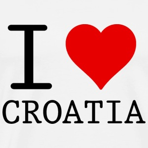 I LOVE CROATIA Tops - Mannen Premium T-shirt