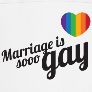 Marriage is so gay-Zwart T-shirts - Keukenschort