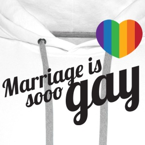 Marriage is so gay-Zwart T-shirts - Mannen Premium hoodie