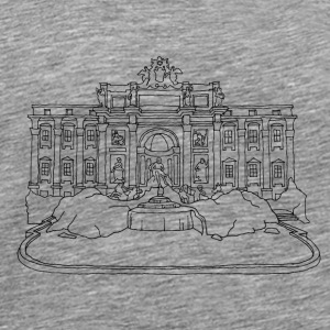 Rome Trevi Fountain Other - Men's Premium T-Shirt