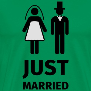 just married Tabliers - T-shirt Premium Homme