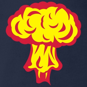 Explosion atomic nuclear mushroom Shirts - Organic Short-sleeved Baby Bodysuit