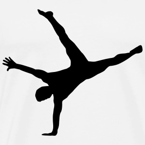 gymnast, gymnastics - breakdance, handstand, flair Hoodies & Sweatshirts - Men's Premium T-Shirt