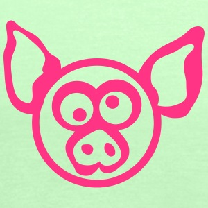 Pig head drawing 206 T-Shirts - Women's Tank Top by Bella