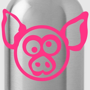 Pig head drawing 206 T-Shirts - Water Bottle
