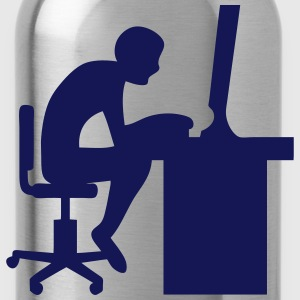Icon office computer work 2062 T-Shirts - Water Bottle