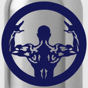 Bodybuilding back muscle man 1062 T-Shirts - Water Bottle