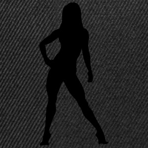 Silhouette woman bodybuilding fitness 10 Long sleeve shirts - Snapback Cap