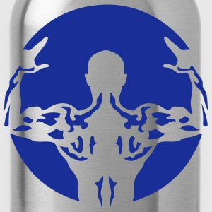 Bodybuilding back muscle man 106 T-Shirts - Water Bottle