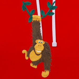 Fun Funky Monkey or Gorilla Swings on Jungle Vine - Contrast Colour Hoodie