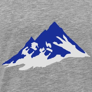 mountain, mountains Tops - Mannen Premium T-shirt
