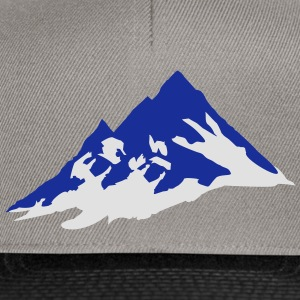 mountain, mountains Camisetas - Gorra Snapback