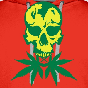 tete de mort no cannabis drogue crane Tabliers - Sweat-shirt à capuche Premium pour hommes