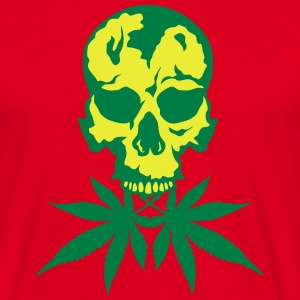 No cannabis drug skull  Aprons - Men's T-Shirt
