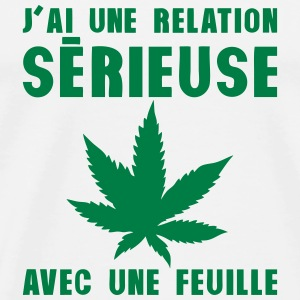 relation serieuse feuille cannabis drogu Sweat-shirts - T-shirt Premium Homme