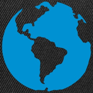 Planet earth blue icon 2805 T-Shirts - Snapback Cap