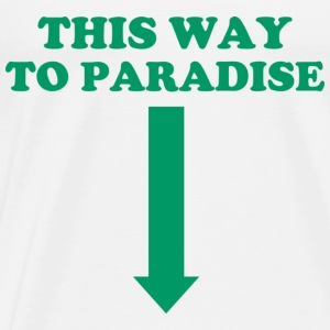 THIS WAY TO PARADISE Langarmede T-skjorter - Premium T-skjorte for menn