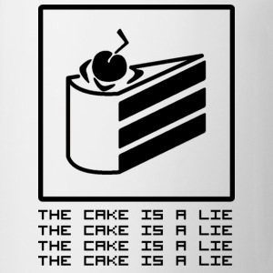 THE CAKE IS A LIE Magliette - Tazza