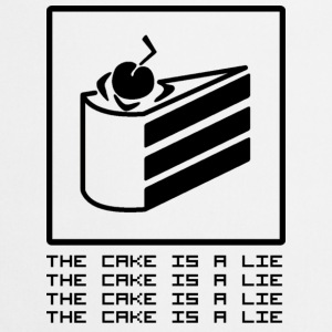 THE CAKE IS A LIE Tassen & rugzakken - Keukenschort