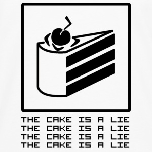 THE CAKE IS A LIE Tassen & rugzakken - Mannen Premium shirt met lange mouwen