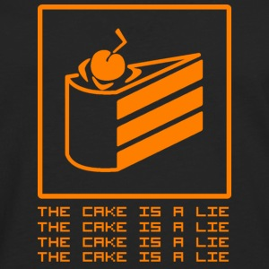 THE CAKE IS A LIE T-Shirts - Men's Premium Longsleeve Shirt
