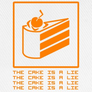 THE CAKE IS A LIE Shirts - Baseballcap