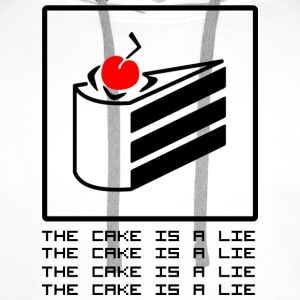 THE CAKE IS A LIE Shirts - Men's Premium Hoodie