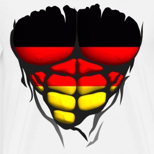 Germany flag torso body muscle abdos Hoodies & Sweatshirts - Men's Premium T-Shirt