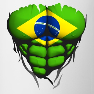 Brazil flag torso body muscle abdos Hoodies & Sweatshirts - Mug