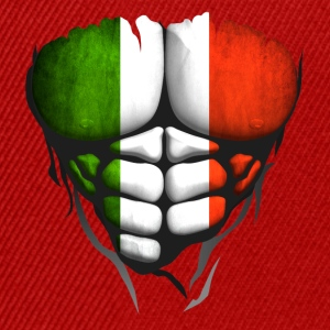 italie drapeau torse corps muscle abdos Tee shirts - Casquette snapback
