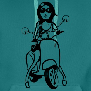 Scooter style look girl T-Shirts - Men's Premium Hoodie