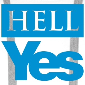 Hell Yes (Scottish Independence) - Men's Premium Hoodie