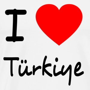 I LOVE TURKEY Langærmede t-shirts - Herre premium T-shirt