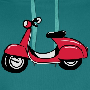 Scooter riding Scooter T-Shirts - Men's Premium Hoodie