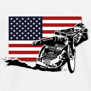 Speedway - USA Flag Hoodies & Sweatshirts - Men's Premium T-Shirt