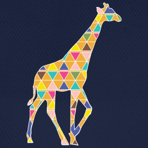 A colorful graphic Giraffe Shirts - Baseball Cap