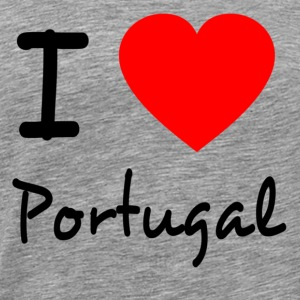 I LOVE PORTUGAL Long Sleeve Shirts - Men's Premium T-Shirt
